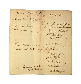 (1) Three Autograph Legal Documents Signed by Roger Brooke Taney; (2) Tyler, Samuel. Memoir of Roger Brooke Taney, LL.D.