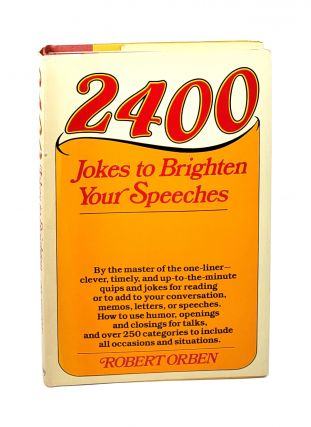 2400 Jokes to Brighten Your Speeches [Signed to William Safire]. Robert Orben