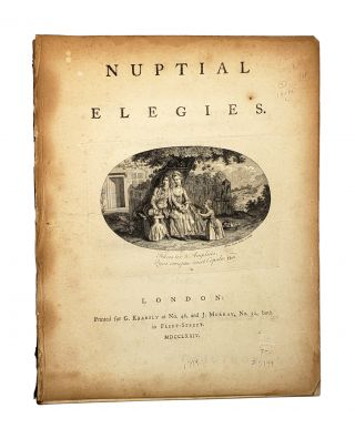 Nuptial Elegies. Abraham Portal, Isaac Taylor, title page vignette