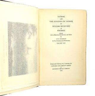 Vathek; with the Episodes of Vathek [Vathek, Conte Arabe avec Les Épisodes de Vathek] (Two Volumes)