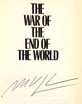 The War of the End of the World [Signed]