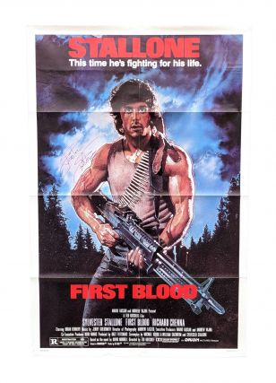 Rambo: First Blood (Original Film Poster - NSS 820158) [Signed by Stallone and Morrell]. Ted...