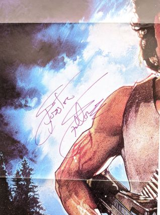 Rambo: First Blood (Original Film Poster - NSS 820158) [Signed by Stallone and Morrell]