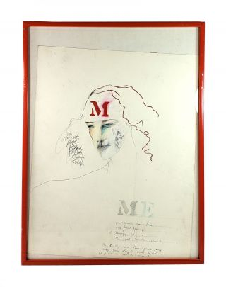 Apology 2, Apology 3 - Original Self-Portraits [Two in a series, one inscribed)