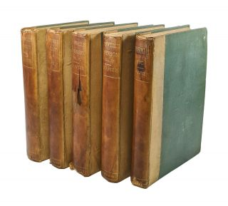 The Life of Samuel Johnson, LL.D., together with the Journal of a Tour to the Hebrides and Johnsoniana (Five Volumes)