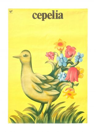 Publicity for Cepelia - Cepelia logo bird with tail feathers turning into flowers. Jerzy Czerniawski