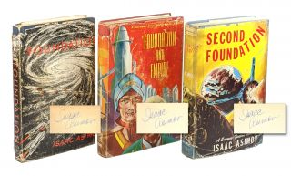 Foundation Trilogy [Signed Mixed State First Editions] being Foundation, Foundation and Empire,...
