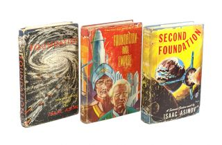 Foundation Trilogy [Signed Mixed State First Editions] being Foundation, Foundation and Empire, Second Foundation