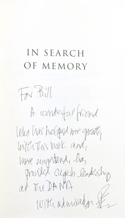 In Search of Memory: The Emergence of a New Science of Mind [Inscribed to William Safire]