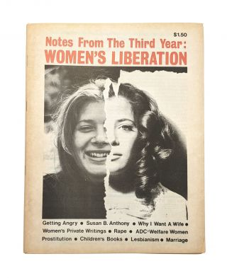 Notes From the Third Year: Women's Liberation. Anne Koedt, ed