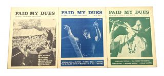My Sisters' Song: Discography of Woman-made Music and Paid My Dues (14 Issues)