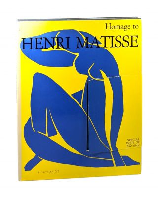 Homage to Henri Matisse, Special Issue of XXe siecle. G. Di San Lazzaro, ed