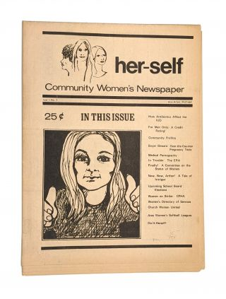 her-self: Community Women's Newspaper. Vol. 1, No. 2. Dorothy Dean, ed
