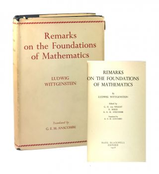 Remarks on the Foundations of Mathematics. Ludwig Wittgenstein, G E. M. Anscombe, G H. von...