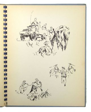 [Lithographed Portfolio of Sketches] Troop K 101st Cavalry: Pyrites, New York, July 15-August 4 [1940]