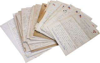Professional and Private Archive of Correspondence, Original Artwork, and Published Pieces....