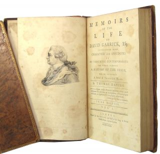 Memoirs of the Life of David Garrick, Esq., Interspersed with Characters and Anecdotes of his Theatrical Contemporaries, the Whole Forming a History of the Stage, which Includes a Period of Thirty-Six Years
