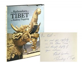 The Splendors of Tibet [Signed to William Safire]. Audrey Topping, Seymour Topping, fwd
