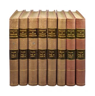 History of English Literature (Four Volumes in Eight) [Limited Edition, #1 of 500]. ippolyte,...