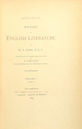 History of English Literature (Four Volumes in Eight) [Limited Edition, #1 of 500]