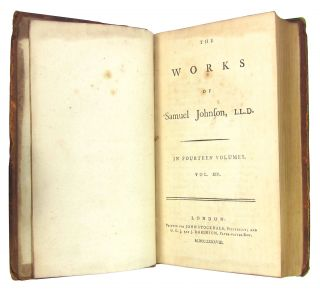 The Works of Samuel Johnson, LL.D. Volume XIV