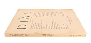 The Dial, January 1923, Volume LXXIV, Number 1 [containing Seven Poems and Four Line Drawings by Cummings]