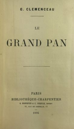 La Grand Pan [Limited Edition, Inscribed and Signed to Georg Brandes]