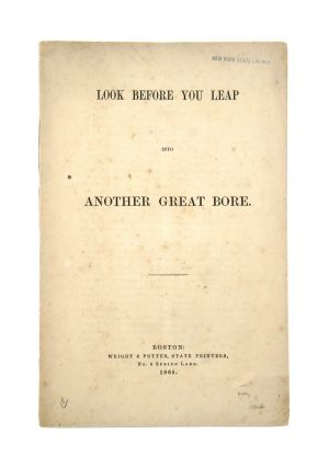 Look Before You Leap Into Another Great Bore. Francis William Bird
