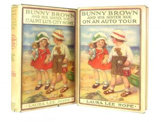 Bunny Brown and his Sister Sue at Aunt Lu's City Home and Bunny Brown and his Sister Sue on an...