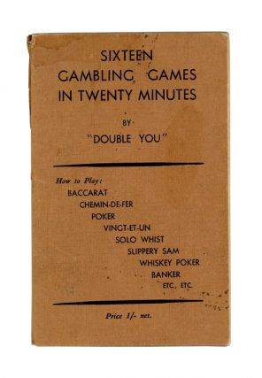 "Sixteen Gambling Games in Twenty Minutes. ""Double You"""