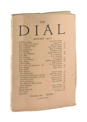 The Dial, January 1921, Volume LXX, Number 1 [containing Puella Mea and Four Drawings by...