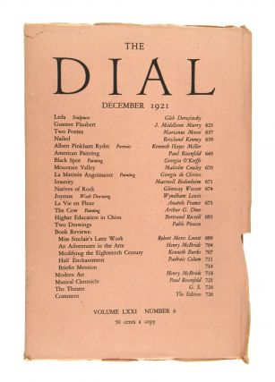 The Dial, December 1921, Volume LXXI, Number 6 [featuring Black Spot by O'Keeffe]. Georgia...