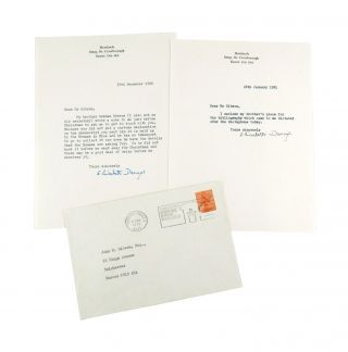 Signed correspondence surrounding Greene's Preface to A Bibliography of A. Conan Doyle, with preface manuscript and galley proofs