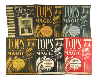 Tops: The Magazine of Magic [Collection of Six Issues]. Abbott's Magic Novelty Company