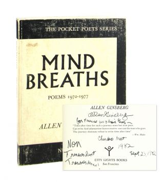 Mind Breaths: Poems 1972-1977 [Inscribed to Francine Du Plessix Gray]. Allen Ginsberg