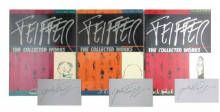 Feiffer: The Collected Works (3 Vols.) [Each Signed]. Jules Feiffer