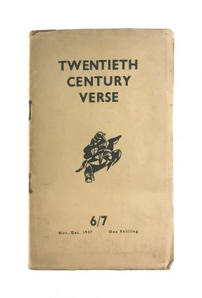 Twentieth Century Verse 6/7: Nov./Dec. 1937 - Wyndham Lewis Double Number. Julian Symons, Wyndham...