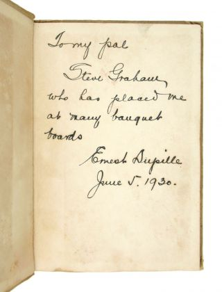 The Confessions of an After-Dinner Speaker [Inscribed and Signed]