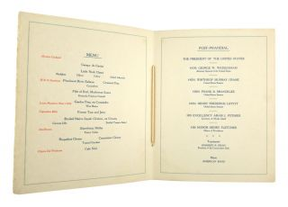 The Conservative Club Banquet tendered to the President of the United States on the evening of June twenty-third, nineteen hundred and eleven--at Infantry Hall in Providence