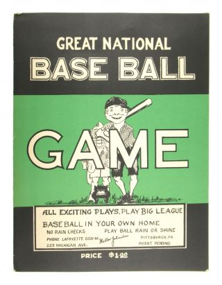 Great National Base Ball [Baseball] Game. Walter Johnston