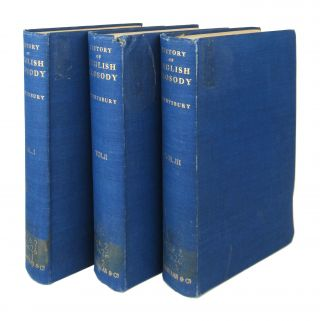 A History of English Prosody from the Twelfth Century to the Present Day [Three Volumes]