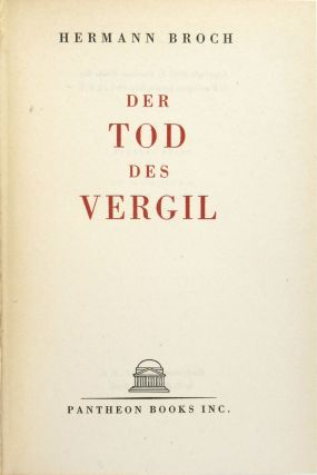 Der Tod Des Vergil [The Death of Vergil]