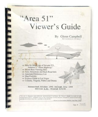 """Area 51"" Viewer's Guide. Glenn Campbell, Tom Mahood"