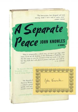 A Separate Peace [Signed Bookplate Laid in]. John Knowles