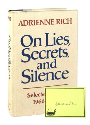 On Lies, Secrets, and Silence: Selected Prose, 1966-1978 [Signed Bookplate Laid in]. Adrienne Rich