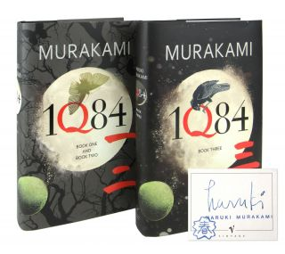 1Q84 Books One and Two [with] 1Q84 Book Three [Signed Bookplate Laid in]. Haruki Murakami, Jay...