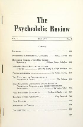 Psychedelic Review: Volume 1 Number 2, Fall 1963