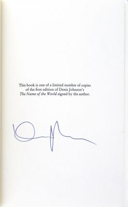 The Name of the World [Signed]