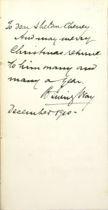 Stars of Thought [Inscribed and Signed by W. Irving Way to Shelton Cheney]
