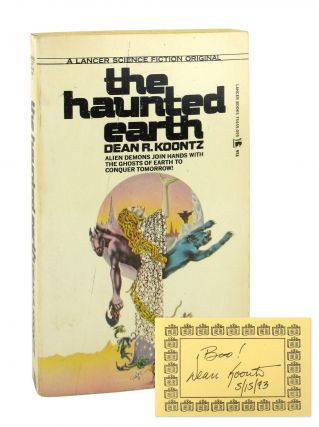 The Haunted Earth [Signed Bookplate Laid in]. Dean R. Koontz